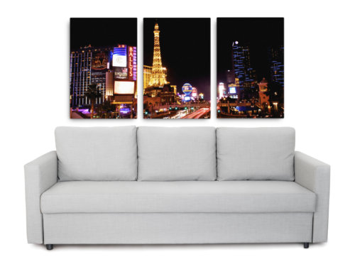 Product picture of Las Vegas at night triptych canvas print