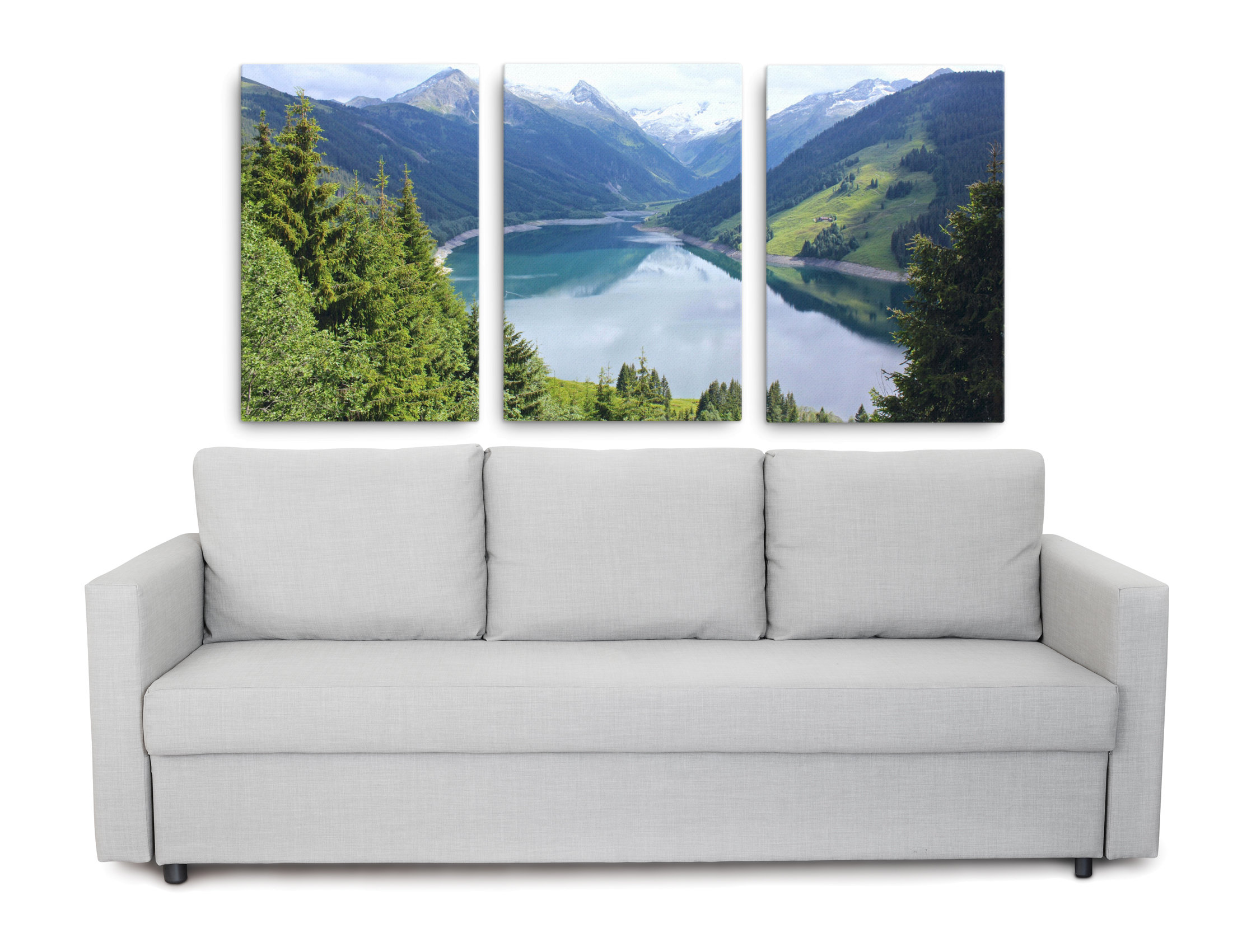 Product picture of alpine lake triptych canvas print