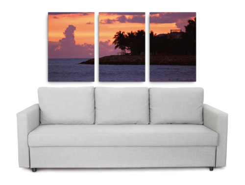 Product picture of the Key West sunset triptych canvas print