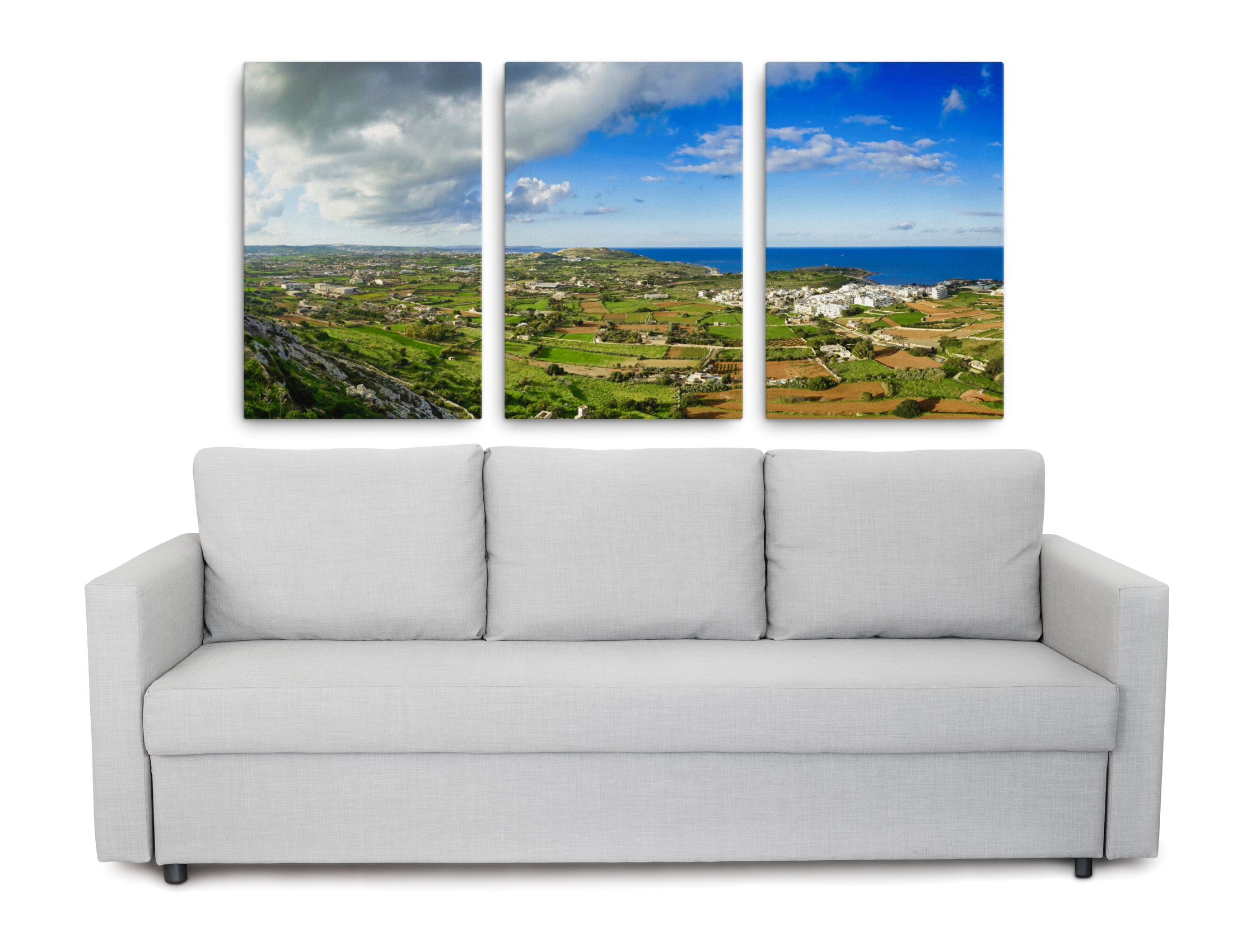 Triptych landscape prints of Malta - Top of the world