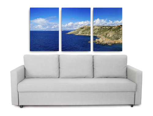 Pictures of Gozo, Malta, printed on canvas.