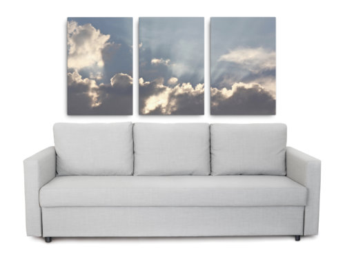 Product picture of canvas print of image of sun coming through clouds